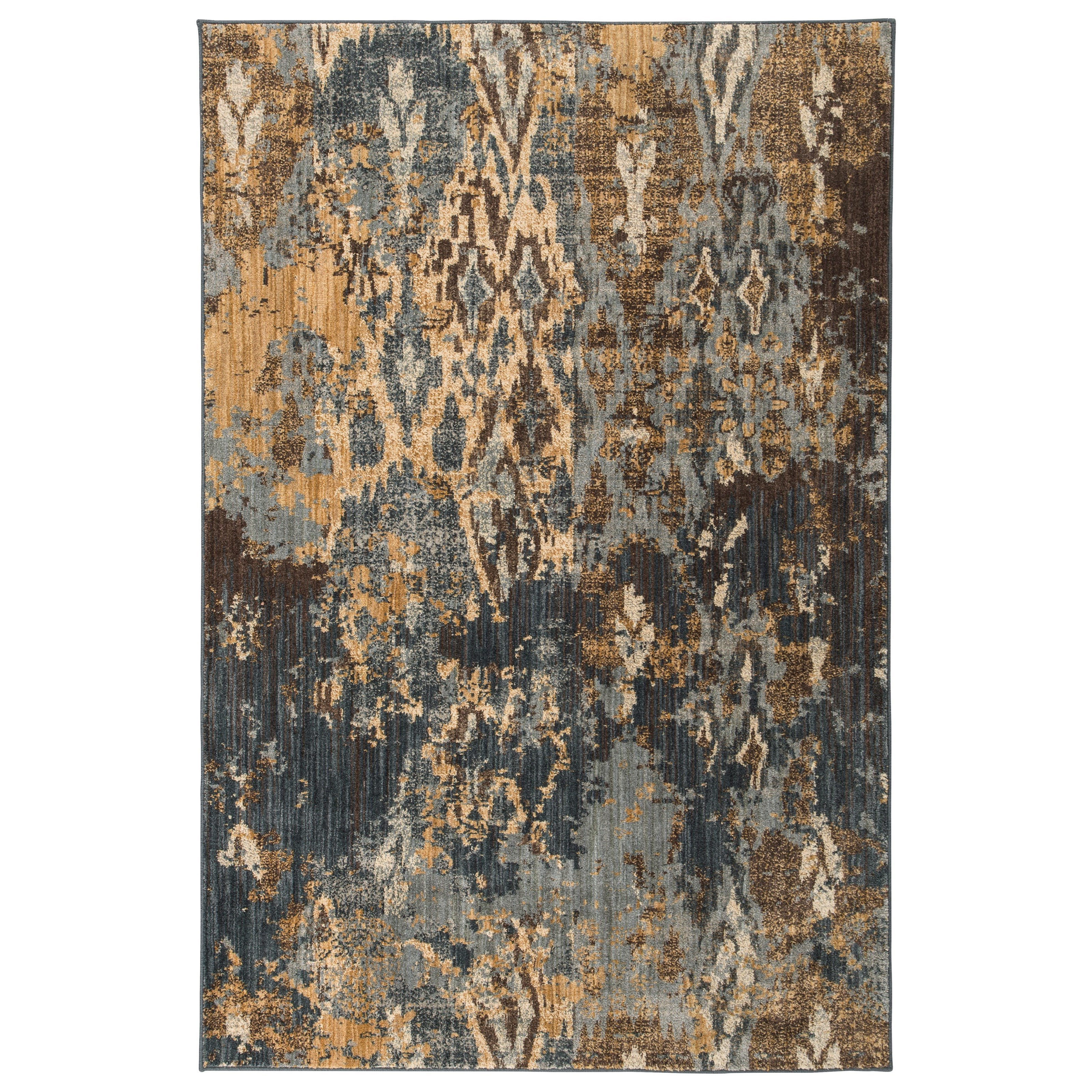 Signature Design by Ashley Contemporary Area Rugs Kayson Blue/Gray/Yellow Medium Rug - Item Number: R402662