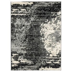 Ashley Signature Design Contemporary Area Rugs Roskos Black/Gray Medium Rug