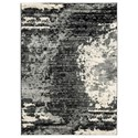 Signature Design by Ashley Contemporary Area Rugs Roskos Black/Gray Medium Rug - Item Number: R402702