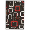Signature Design by Ashley Contemporary Area Rugs Johan Black/Red Medium Rug - Item Number: R402802