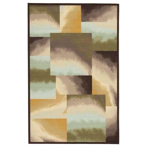 Signature Design by Ashley Contemporary Area Rugs Lenard Brown/Blue/Green Medium Rug - Item Number: R402812