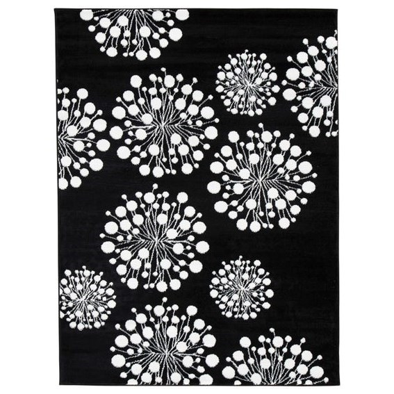 Signature Design by Ashley Contemporary Area Rugs Jaliyah Black/White Medium Rug - Item Number: R402982