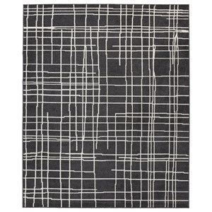 Signature Design by Ashley Contemporary Area Rugs Jai Black/White Large Rug