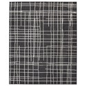 Signature Design by Ashley Contemporary Area Rugs Jai Black/White Medium Rug - Item Number: R403132