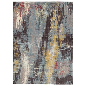 Quent Blue/Gray/Yellow Large Rug