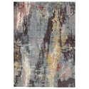 Signature Design by Ashley Contemporary Area Rugs Quent Blue/Gray/Yellow Large Rug - Item Number: R403211