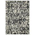 Signature Design by Ashley Contemporary Area Rugs Jezel Black/White Medium Rug - Item Number: R403372