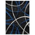 Signature Design by Ashley Contemporary Area Rugs Jenue Black/Gray/Blue Large Rug - Item Number: R403591