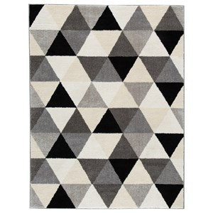 Jamaun Black/Cream Large Rug