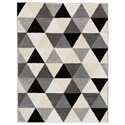 Signature Design by Ashley Contemporary Area Rugs Jamaun Black/Cream Large Rug - Item Number: R403611