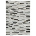 Signature Design by Ashley Contemporary Area Rugs Lebelle White/Black Medium Rug - Item Number: R403692