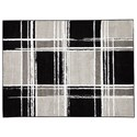 Ashley Signature Design Contemporary Area Rugs Ramy Black/White/Gray Medium Rug - Item Number: R403912
