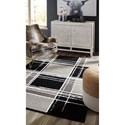 Signature Design by Ashley Contemporary Area Rugs Ramy Black/White/Gray Medium Rug