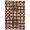 Signature Design by Ashley Contemporary Area Rugs Jingjin Black/Brown Medium Rug - Item Number: R403932