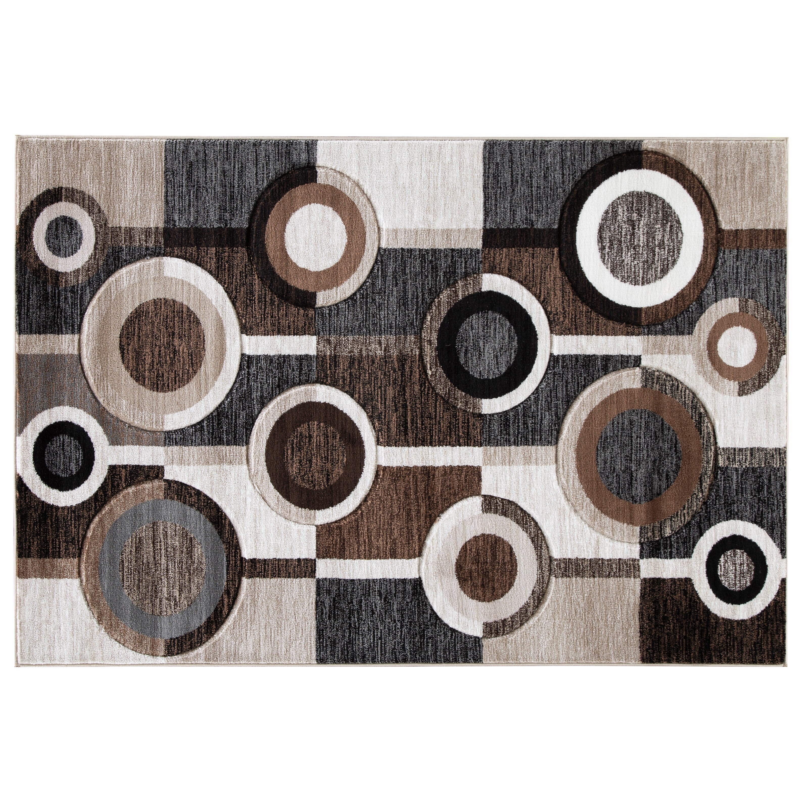 Guintte Black/Brown/Cream Medium Rug