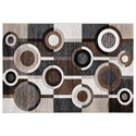 Signature Design by Ashley Contemporary Area Rugs Guintte Black/Brown/Cream Medium Rug - Item Number: R403972