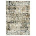 Signature Design by Ashley Contemporary Area Rugs Mahina Tan/Blue/Cream Medium Rug - Item Number: R404152