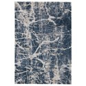 Signature Design by Ashley Contemporary Area Rugs Tullis Cream/Navy/Gray Medium Rug - Item Number: R404162