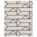 Signature Design by Ashley Contemporary Area Rugs Derval Ivory Large Rug - Item Number: R404361
