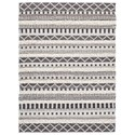Signature Design by Ashley Contemporary Area Rugs Karalee Ivory/Brown Large Rug - Item Number: R404441