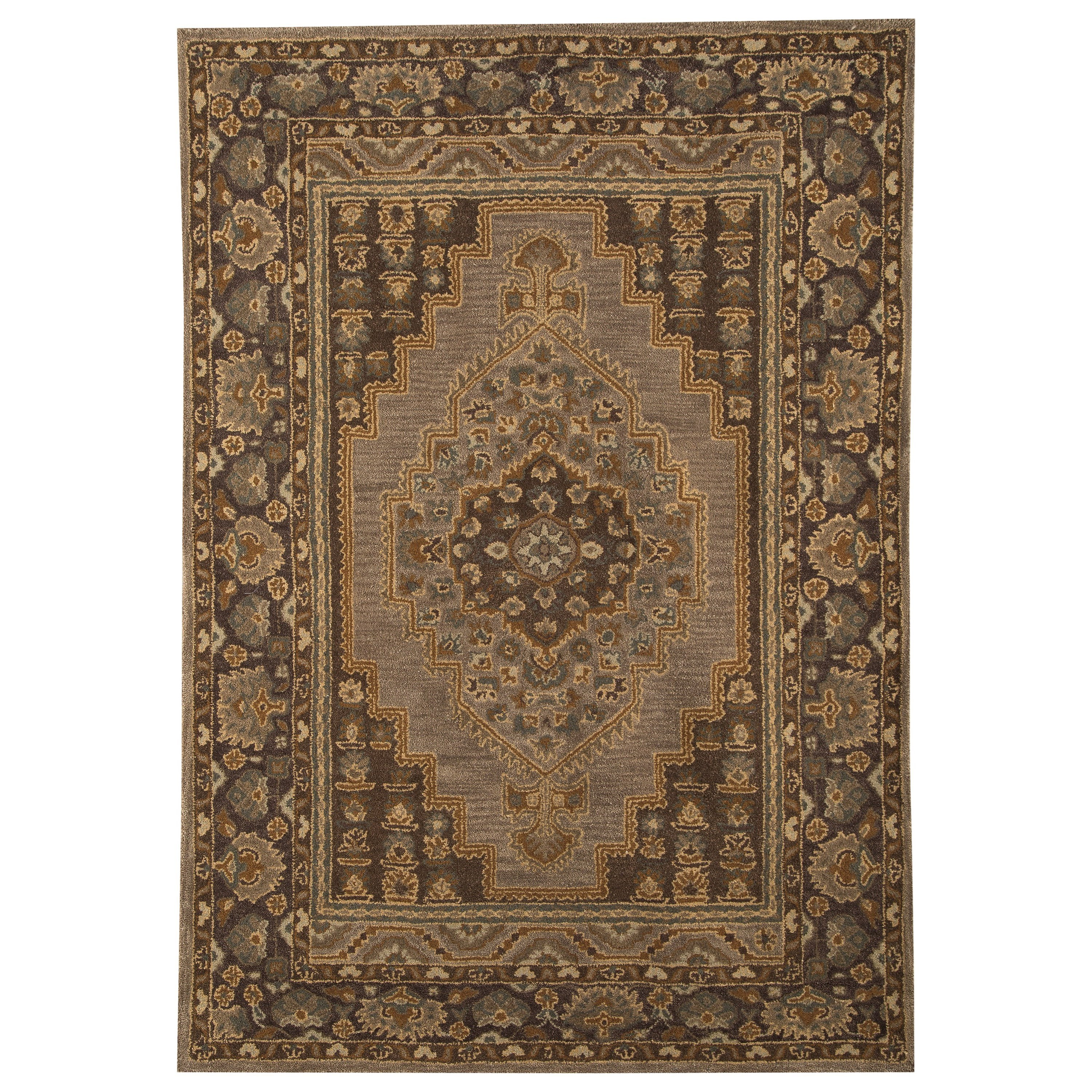 Signature Design by Ashley Traditional Classics Area Rugs Sangerville Tan Medium Rug - Item Number: R400022