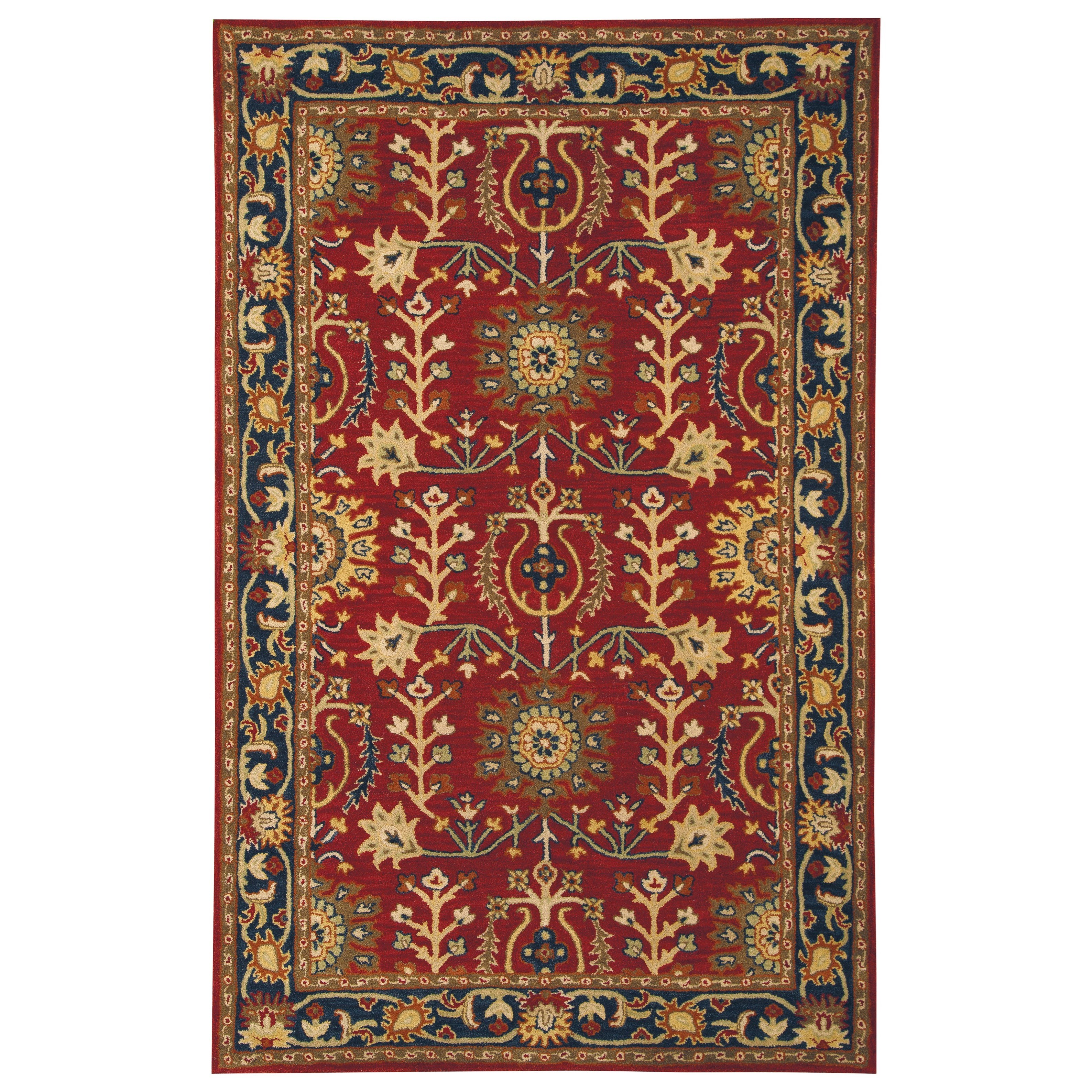 Signature Design by Ashley Traditional Classics Area Rugs Lymen Red/Black/Gray Medium Rug - Item Number: R400352