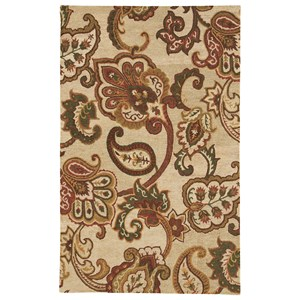 Signature Design by Ashley Traditional Classics Area Rugs Jamelia Green/Cream Medium Rug