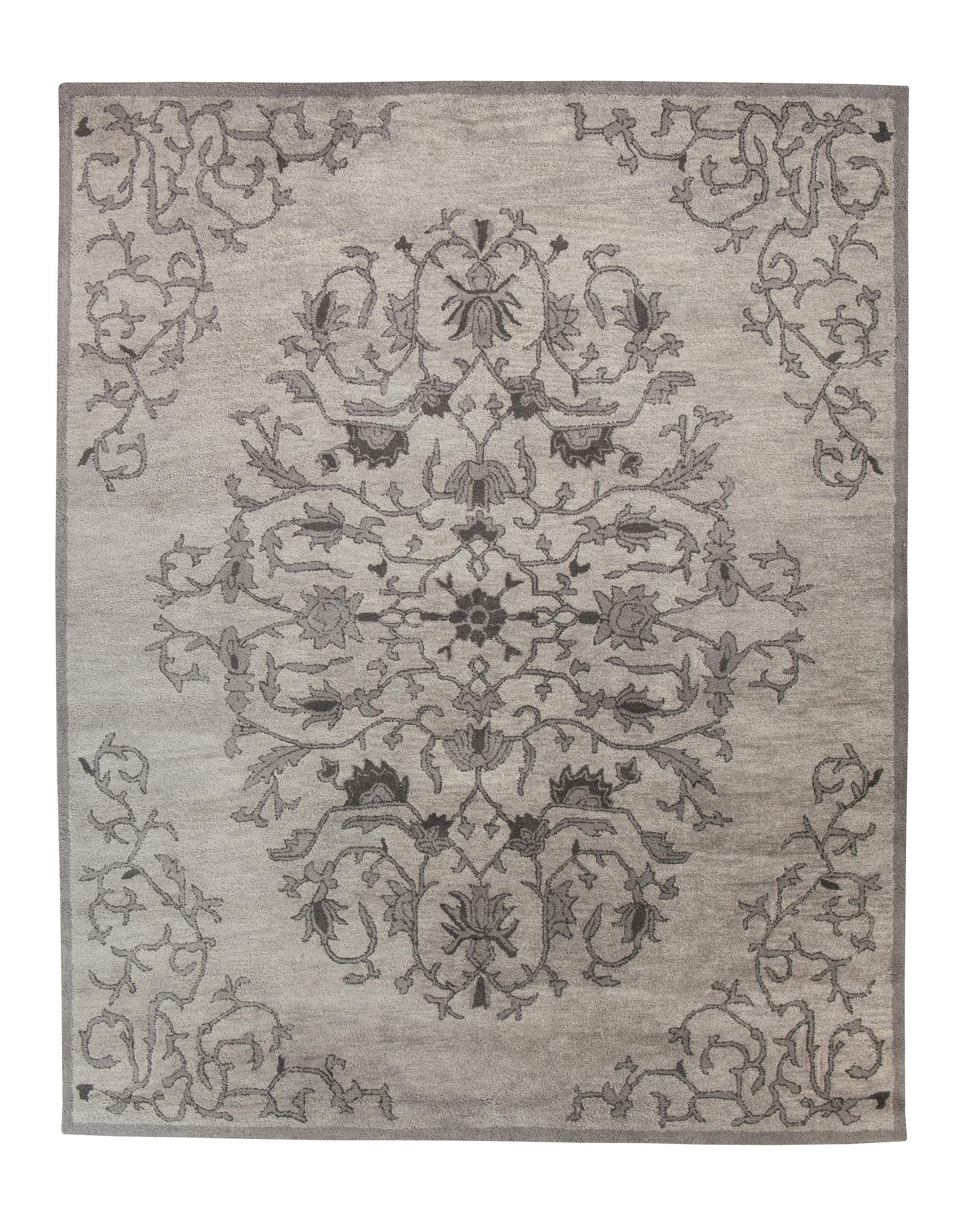 Signature Design by Ashley Traditional Classics Area Rugs Woven - Gray Medium Rug - Item Number: R401752