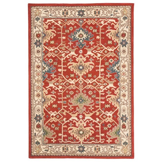 Signature Design by Ashley Traditional Classics Area Rugs Forcher Brick Large Rug - Item Number: R401851