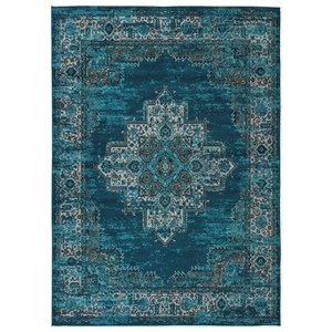 Signature Design by Ashley Traditional Classics Area Rugs Moore Blue/Teal Large Rug