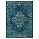 Signature Design by Ashley Traditional Classics Area Rugs Moore Blue/Teal Large Rug - Item Number: R402591