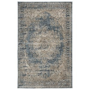 Trendz Traditional Classics Area Rugs South Blue/Tan Large Rug