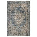 Signature Design by Ashley Traditional Classics Area Rugs South Blue/Tan Medium Rug - Item Number: R402722
