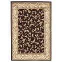 Signature Design by Ashley Traditional Classics Area Rugs Jameel Brown/Gold Medium Rug - Item Number: R403002
