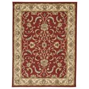 Signature Design by Ashley Traditional Classics Area Rugs Jamirah Red/Brown Medium Rug - Item Number: R403022