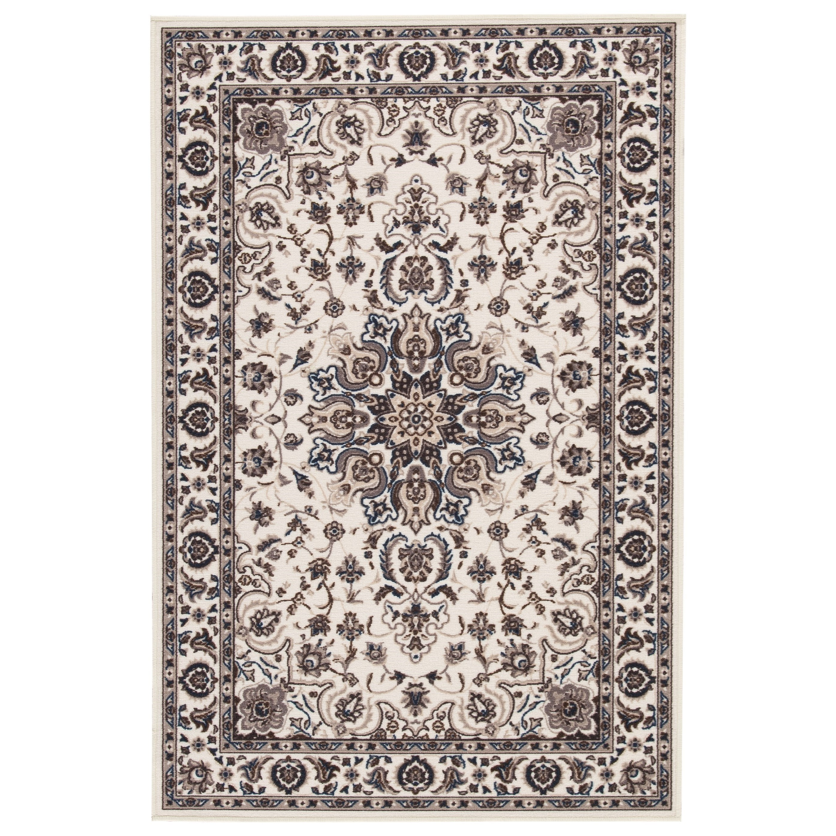 Signature Design by Ashley Traditional Classics Area Rugs Monia Ivory/Navy Medium Rug - Item Number: R403162