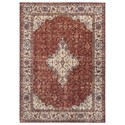 Signature Design by Ashley Traditional Classics Area Rugs Haydrien Red Medium Rug - Item Number: R403482