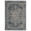 Signature Design by Ashley Traditional Classics Area Rugs Paretta Cream/Navy/Gray Medium Rug - Item Number: R404172