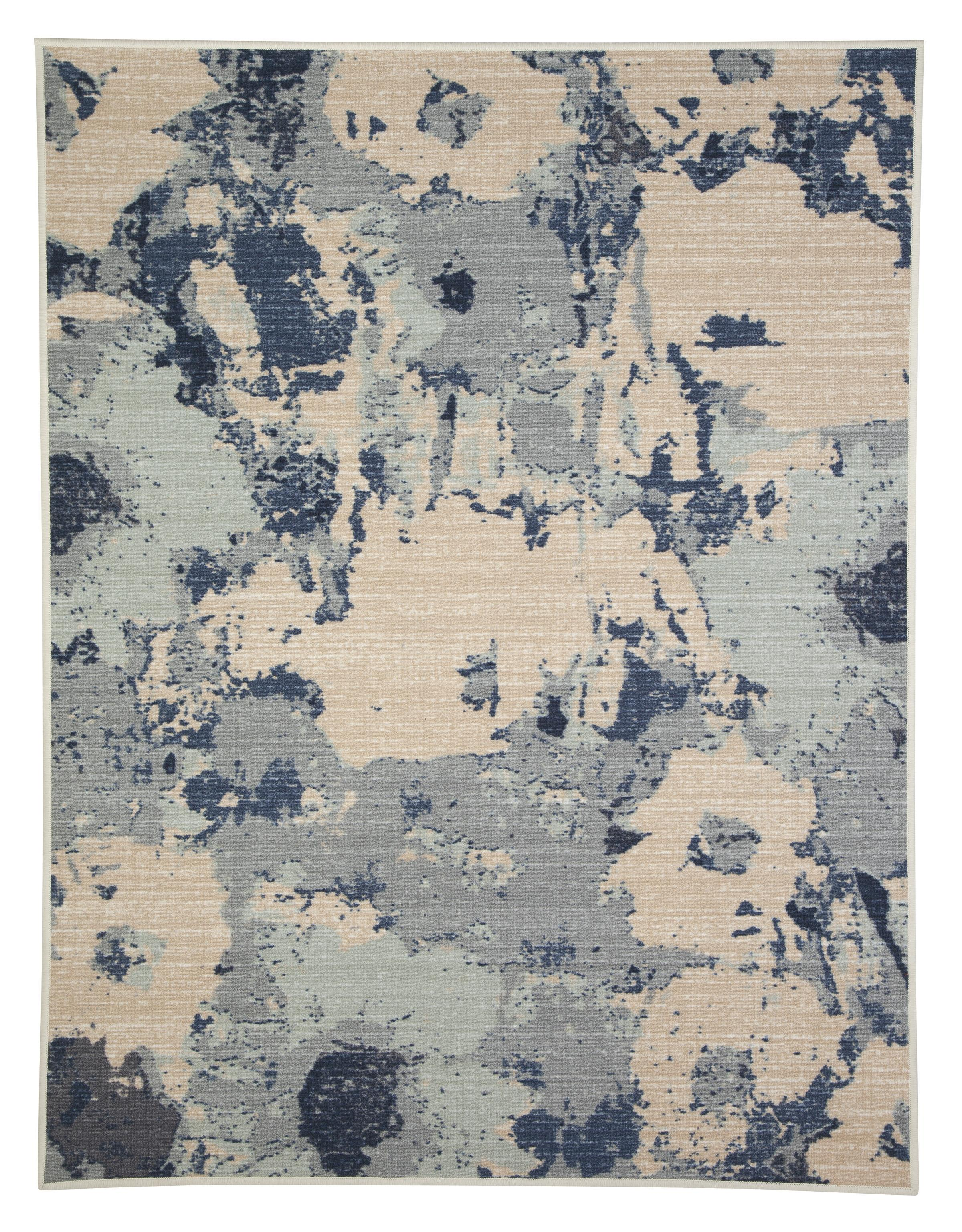 Signature Design by Ashley Transitional Area Rugs Lizette Blue Medium Rug - Item Number: R266002