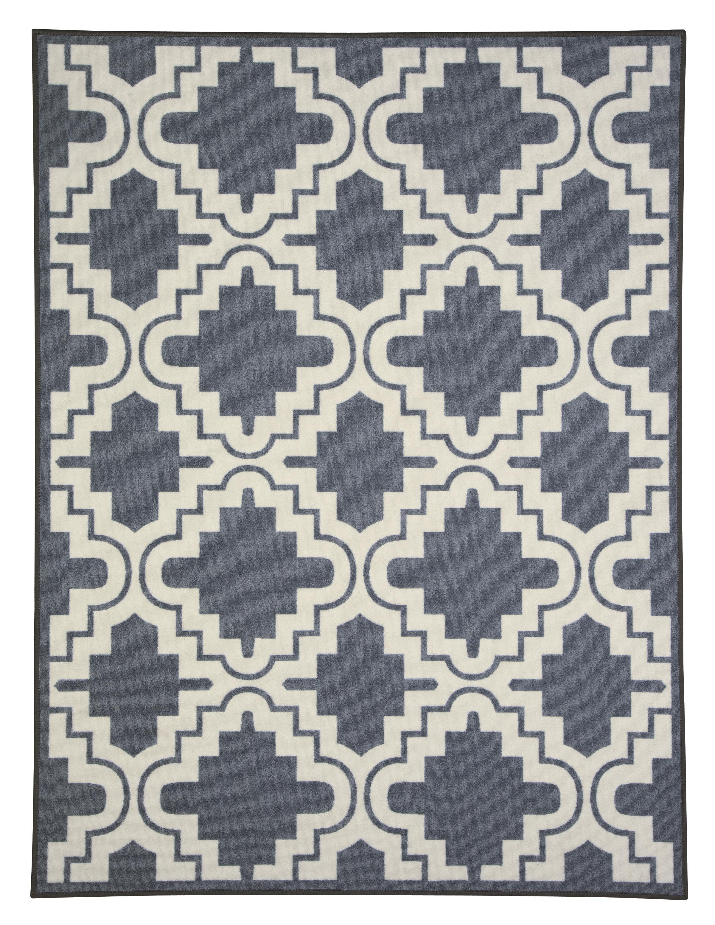 Signature Design by Ashley Transitional Area Rugs Jacory Gray/White Medium Rug - Item Number: R288002
