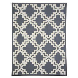 Signature Design by Ashley Transitional Area Rugs Jacory Gray/White Medium Rug