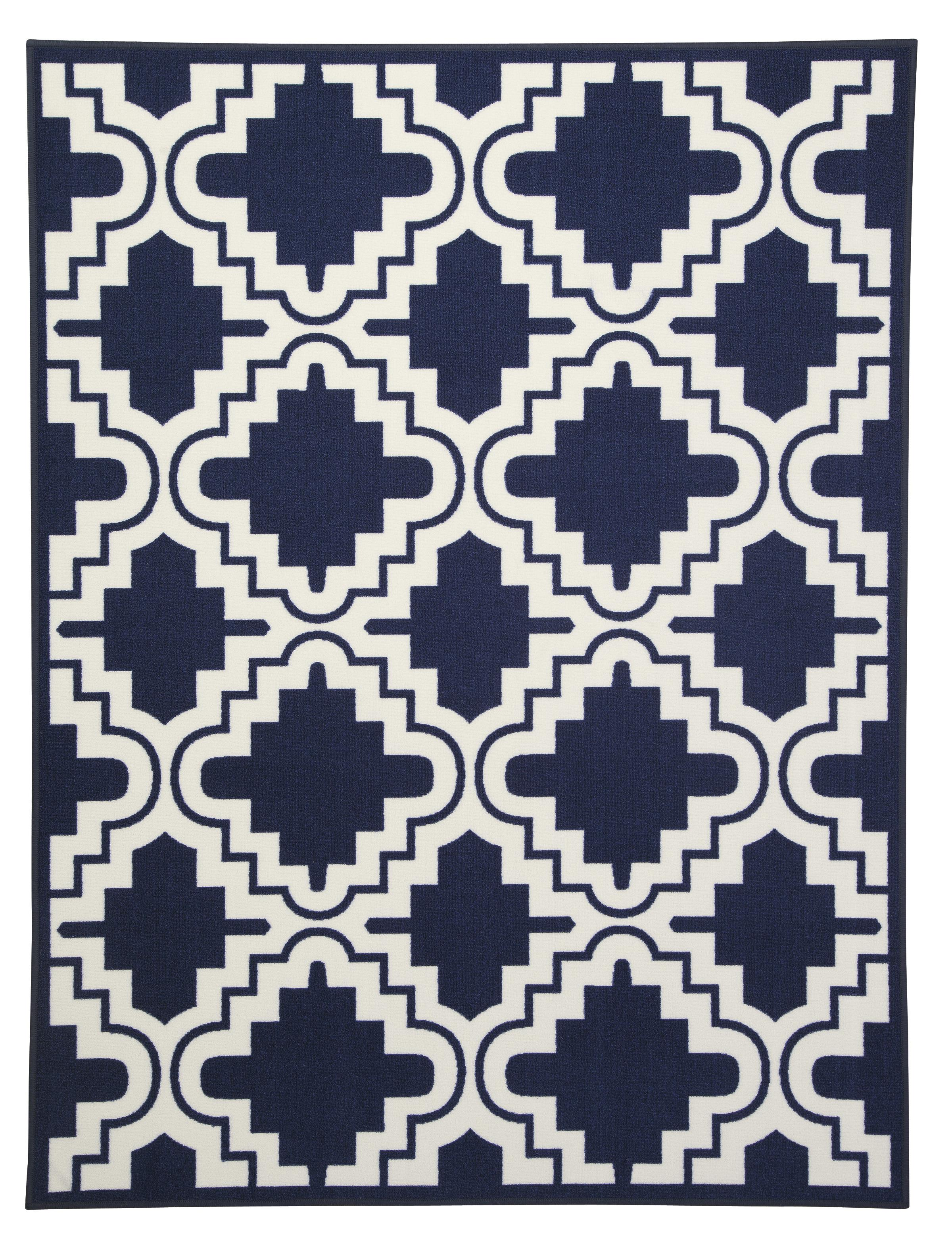 Signature Design by Ashley Transitional Area Rugs Jacory Navy Medium Rug - Item Number: R291002
