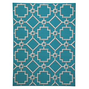 Signature Design by Ashley Furniture Transitional Area Rugs Zarek Turquoise Medium Rug