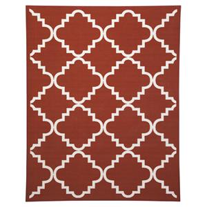 Ashley Signature Design Transitional Area Rugs Bandele Orange/White Medium Rug