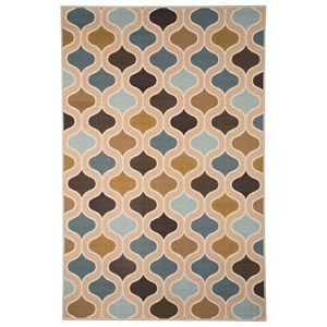 Signature Design by Ashley Transitional Area Rugs Aarushi Blue/Brown Medium Rug