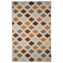 Signature Design by Ashley Transitional Area Rugs Aarushi Blue/Brown Medium Rug - Item Number: R319002