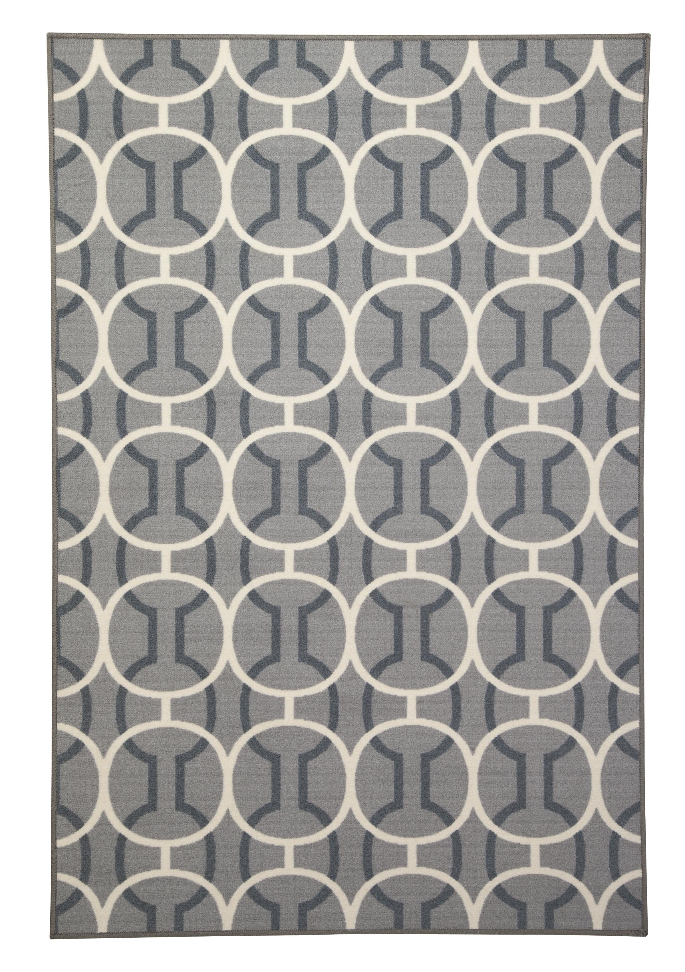 Signature Design by Ashley Transitional Area Rugs Abigail Gray/White Medium Rug - Item Number: R322002