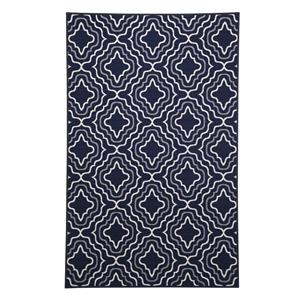 Signature Design by Ashley Transitional Area Rugs Nikalos Navy Medium Rug