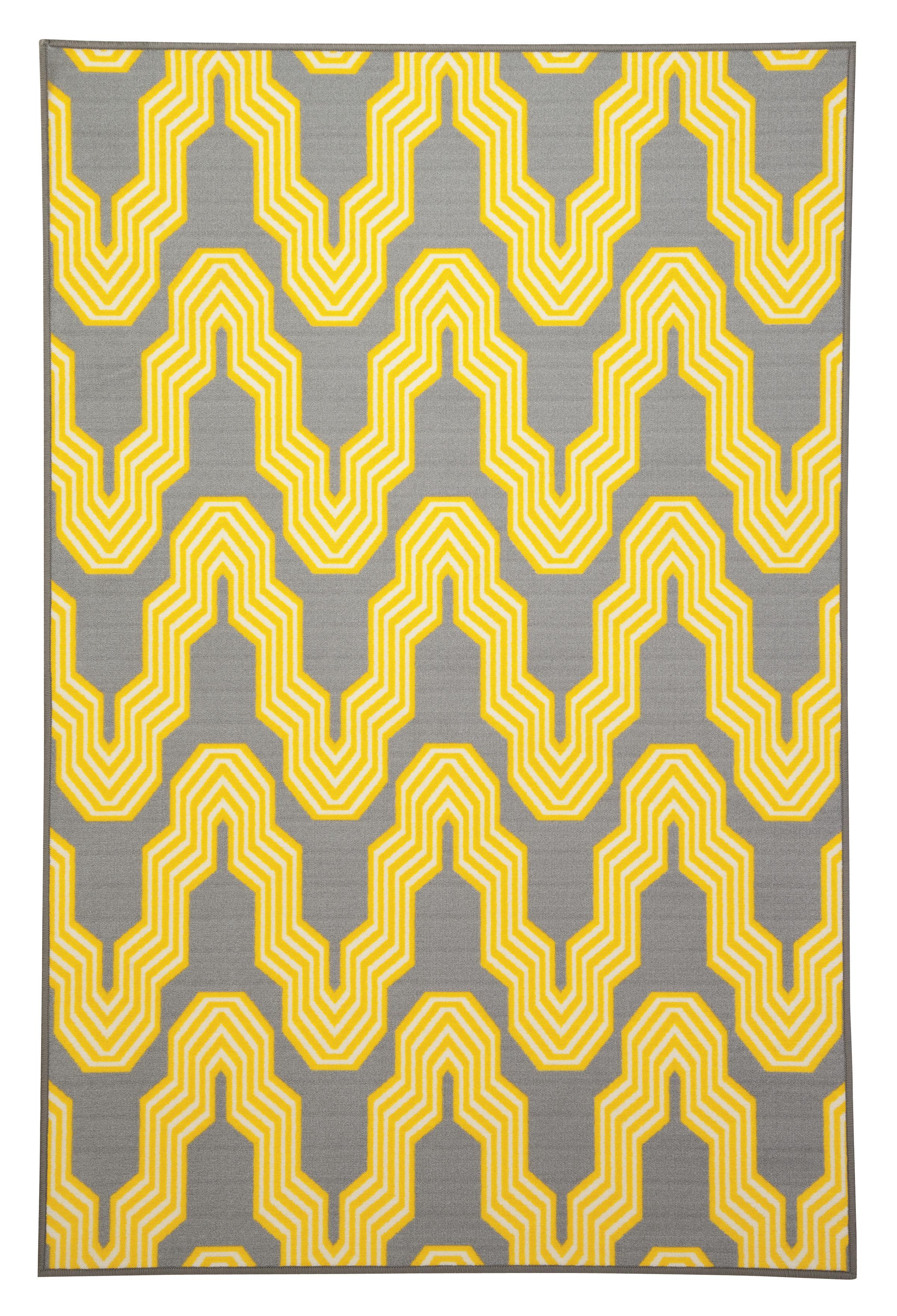 Signature Design by Ashley Transitional Area Rugs Nimat Yellow Medium Rug - Item Number: R326002