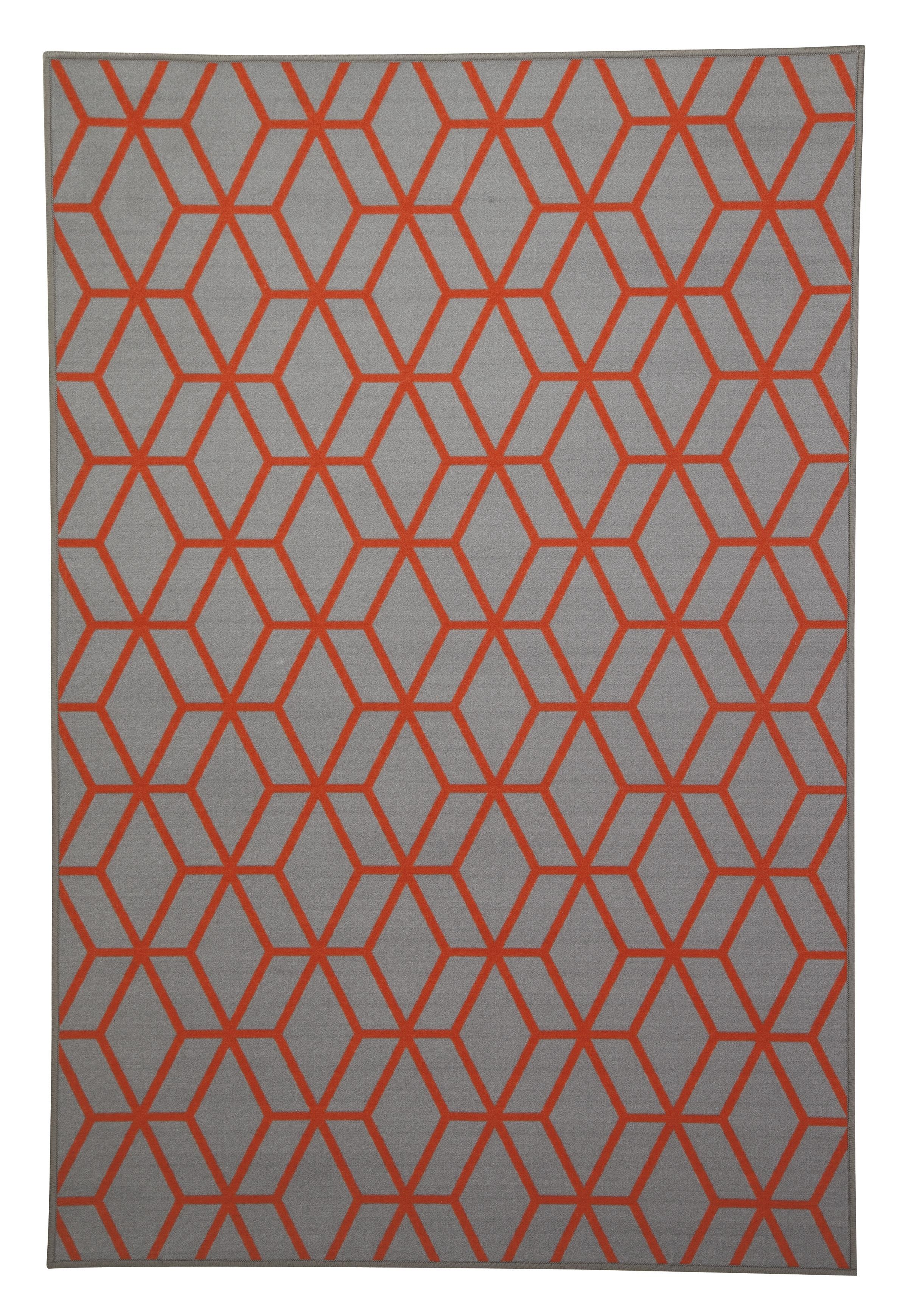 Signature Design by Ashley Transitional Area Rugs Rico Orange Medium Rug - Item Number: R331002